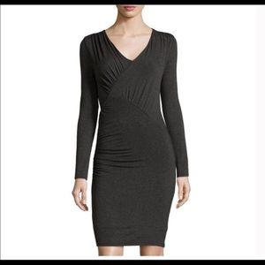 Laundry Women's Ruched Long sleeve bodycon dress